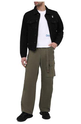 Мужская джинсовая куртка OFF-WHITE черного цвета, арт. 0MYE054R21DEN001 | Фото 2 (Кросс-КТ: Куртка, Деним; Рукава: Длинные; Стили: Гранж; Материал внешний: Хлопок, Деним; Длина (верхняя одежда): Короткие)