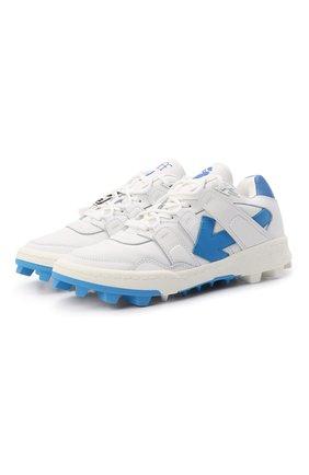 Мужские кожаные кроссовки mountain cleats OFF-WHITE белого цвета, арт. 0MIA210R21LEA0010145 | Фото 1 (Материал внутренний: Текстиль; Стили: Гранж; Подошва: Массивная)
