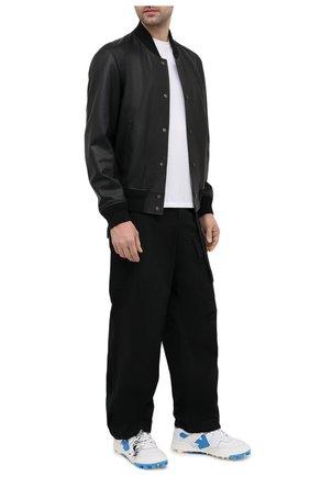 Мужские кожаные кроссовки mountain cleats OFF-WHITE белого цвета, арт. 0MIA210R21LEA0010145 | Фото 2 (Материал внутренний: Текстиль; Стили: Гранж; Подошва: Массивная)