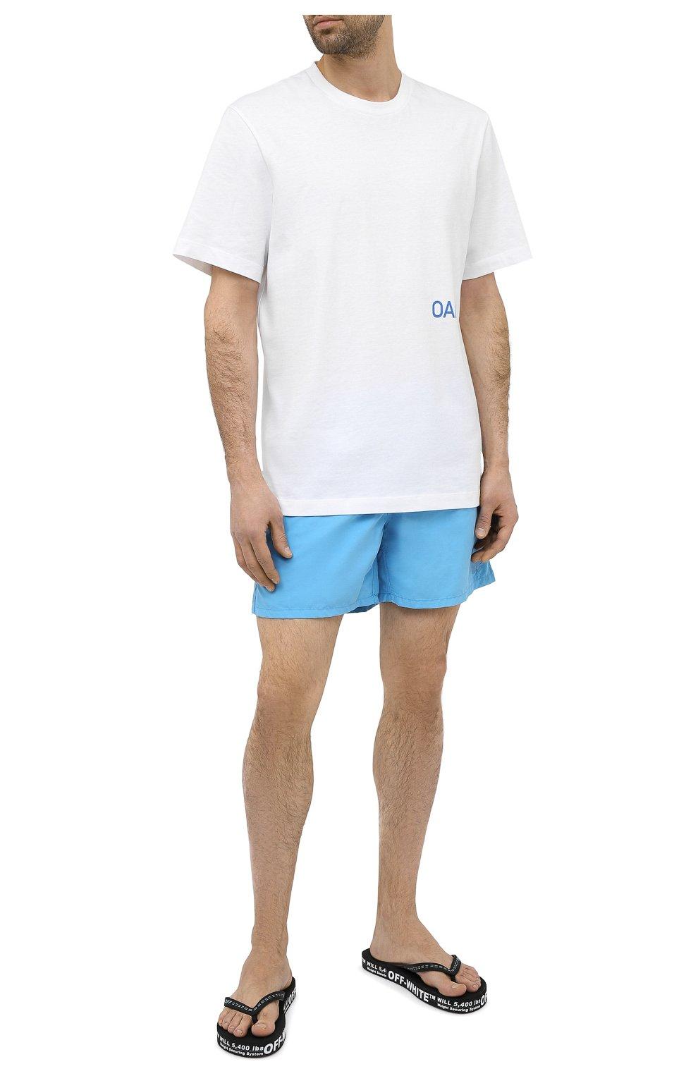 Мужские шлепанцы OFF-WHITE черного цвета, арт. 0MIC002R21MAT0011001 | Фото 2 (Материал внешний: Резина)