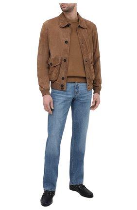 Мужские кожаные лоферы BARRETT темно-синего цвета, арт. 171U067.21/CERV0 ASP0RTABILE | Фото 2