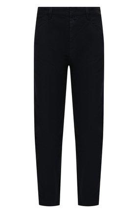 Мужские хлопковые брюки ISABEL MARANT темно-синего цвета, арт. PA1118-21P014H/LYST0N   Фото 1