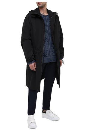 Мужские хлопковые брюки ISABEL MARANT темно-синего цвета, арт. PA1118-21P014H/LYST0N   Фото 2