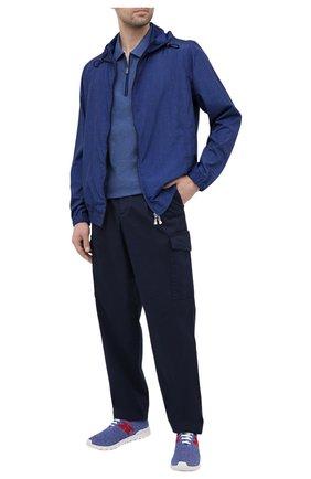 Мужское хлопковое поло CANALI темно-синего цвета, арт. T0653/MJ01156 | Фото 2