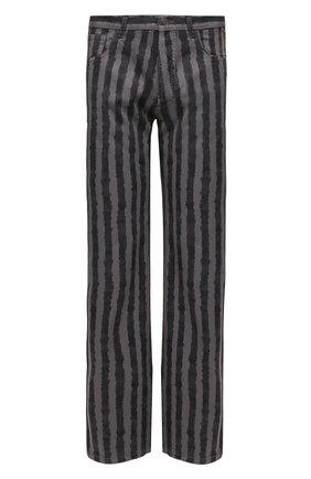 Мужские джинсы KENZO серого цвета, арт. FB55DP3009K1 | Фото 1 (Силуэт М (брюки): Широкие; Длина (брюки, джинсы): Стандартные; Стили: Гранж; Кросс-КТ: Деним; Материал внешний: Хлопок)