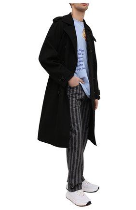 Мужские джинсы KENZO серого цвета, арт. FB55DP3009K1 | Фото 2 (Силуэт М (брюки): Широкие; Длина (брюки, джинсы): Стандартные; Стили: Гранж; Кросс-КТ: Деним; Материал внешний: Хлопок)