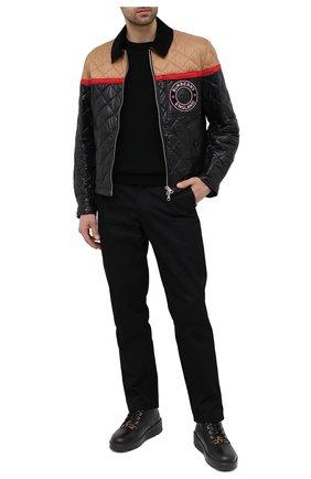Мужские кожаные ботинки FENDI черного цвета, арт. 7U1399 AD83 | Фото 2