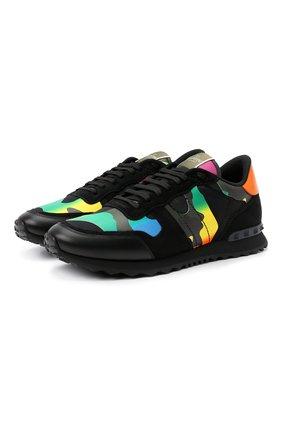 Мужские комбинированные кроссовки rockrunner VALENTINO разноцветного цвета, арт. VY2S0723/ZGX | Фото 1 (Стили: Гранж; Материал внутренний: Текстиль; Подошва: Массивная)
