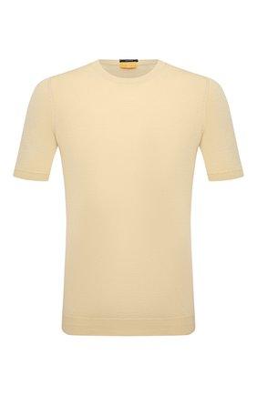 Мужской хлопковый джемпер SVEVO желтого цвета, арт. 8229/0SE20/MP0002 | Фото 1