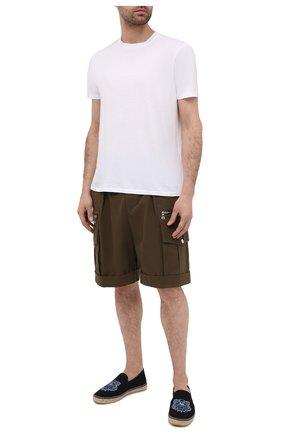 Мужские текстильные эспадрильи KENZO черного цвета, арт. FB55ES188F70 | Фото 2 (Материал внутренний: Натуральная кожа, Текстиль; Материал внешний: Текстиль)