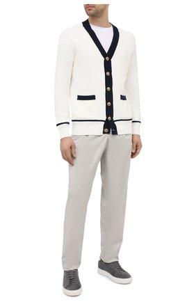 Мужской хлопковый кардиган BRUNELLO CUCINELLI белого цвета, арт. M28702906 | Фото 2