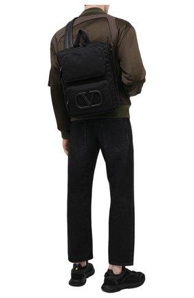 Мужской текстильный рюкзак supervee VALENTINO черного цвета, арт. VY2B0A53/DZK   Фото 2