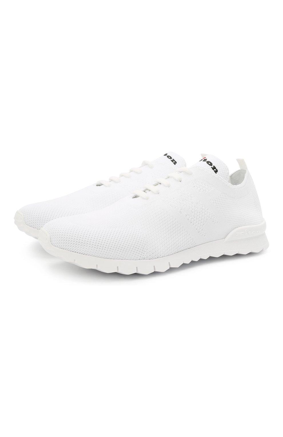 Мужские текстильные кроссовки KITON белого цвета, арт. USSKD0TN00819 | Фото 1