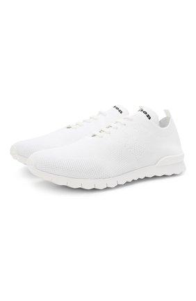 Мужские текстильные кроссовки KITON белого цвета, арт. USSKD0TN00819 | Фото 1 (Стили: Спорт; Материал внешний: Текстиль; Подошва: Массивная; Материал внутренний: Натуральная кожа)