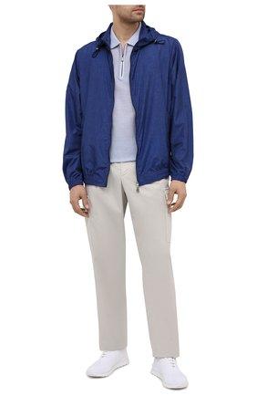 Мужские текстильные кроссовки KITON белого цвета, арт. USSKD0TN00819 | Фото 2 (Стили: Спорт; Материал внешний: Текстиль; Подошва: Массивная; Материал внутренний: Натуральная кожа)