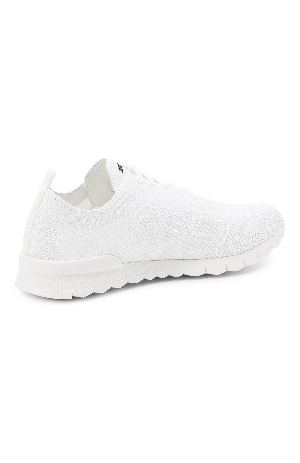 Мужские текстильные кроссовки KITON белого цвета, арт. USSKD0TN00819 | Фото 4