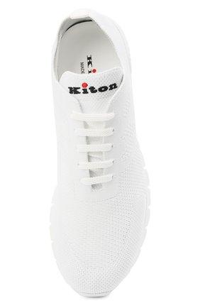 Мужские текстильные кроссовки KITON белого цвета, арт. USSKD0TN00819 | Фото 5