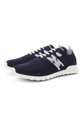 Мужские текстильные кроссовки KITON темно-синего цвета, арт. USSKD0TN00819 | Фото 1