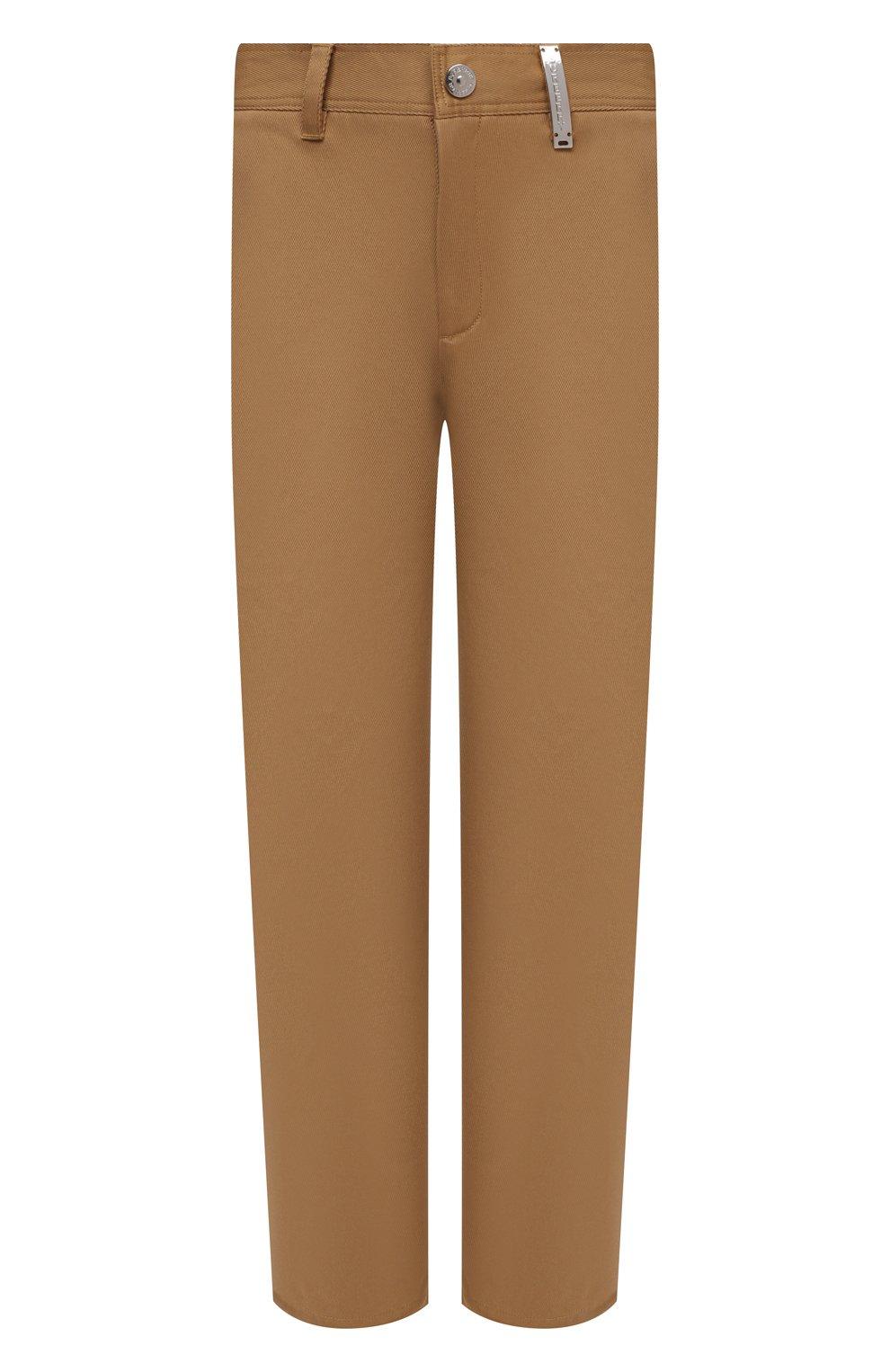 Мужские хлопковые брюки BURBERRY бежевого цвета, арт. 8036695   Фото 1 (Силуэт М (брюки): Чиносы; Длина (брюки, джинсы): Стандартные; Случай: Повседневный; Материал внешний: Хлопок; Стили: Кэжуэл)