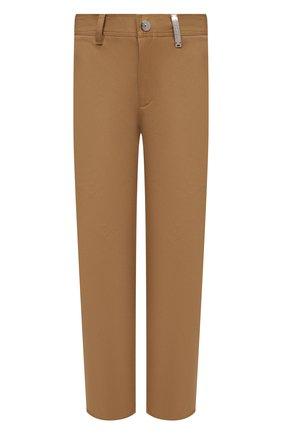Мужские хлопковые брюки BURBERRY бежевого цвета, арт. 8036695 | Фото 1 (Материал внешний: Хлопок; Силуэт М (брюки): Чиносы; Стили: Кэжуэл; Длина (брюки, джинсы): Стандартные; Случай: Повседневный)