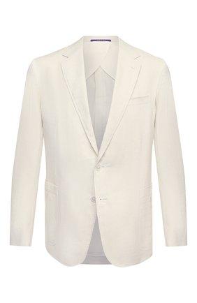 Мужской пиджак изо льна и шелка RALPH LAUREN белого цвета, арт. 798829793 | Фото 1