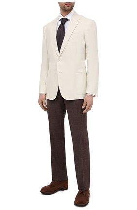 Мужской пиджак изо льна и шелка RALPH LAUREN белого цвета, арт. 798829793 | Фото 2