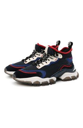 Мужские комбинированные кроссовки leave no trace MONCLER темно-синего цвета, арт. G1-09A-4M726-00-02SRG | Фото 1
