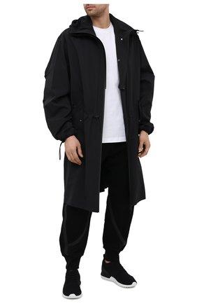 Мужские текстильные кроссовки emilien ii MONCLER черного цвета, арт. G1-09A-4M730-00-02SRB | Фото 2 (Материал внутренний: Натуральная кожа; Стили: Спорт; Подошва: Массивная; Материал внешний: Текстиль)