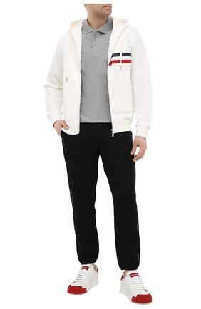 Мужской хлопковая толстовка MONCLER белого цвета, арт. G1-091-8G795-10-809KR | Фото 2