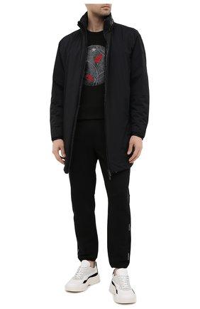Мужская хлопковый лонгслив MONCLER черного цвета, арт. G1-091-8D719-10-8390T | Фото 2