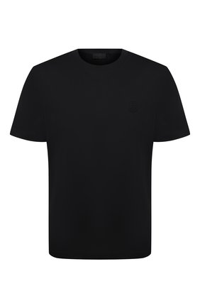 Мужская хлопковая футболка MONCLER черного цвета, арт. G1-091-8C7B3-10-8390Y   Фото 1