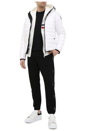 Мужская хлопковая футболка MONCLER черного цвета, арт. G1-091-8C7B3-10-8390Y   Фото 2