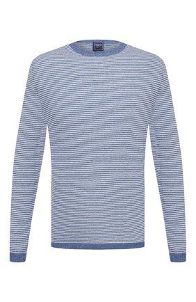 Мужской кашемировый джемпер FEDELI синего цвета, арт. 4UE05100 | Фото 1