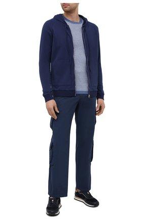 Мужской кашемировый джемпер FEDELI синего цвета, арт. 4UE05100 | Фото 2