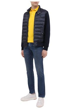 Мужское хлопковое поло POLO RALPH LAUREN желтого цвета, арт. 710541705 | Фото 2