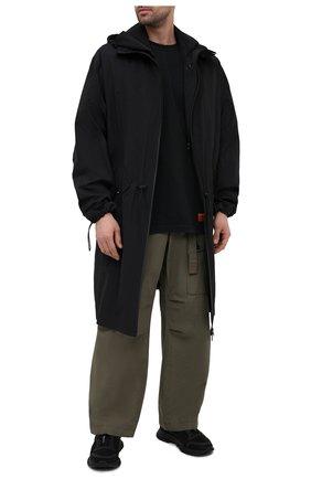 Мужская хлопковая футболка HERON PRESTON черного цвета, арт. HMAA020R21JER0011049 | Фото 2