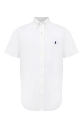 Мужская хлопковая рубашка POLO RALPH LAUREN белого цвета, арт. 710795273 | Фото 1