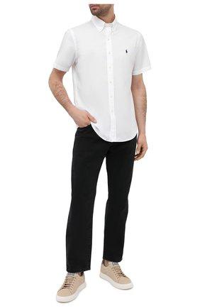 Мужская хлопковая рубашка POLO RALPH LAUREN белого цвета, арт. 710795273 | Фото 2