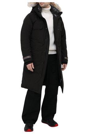 Мужская пуховая парка westmount CANADA GOOSE черного цвета, арт. 2004M | Фото 2 (Материал подклада: Синтетический материал; Рукава: Длинные; Длина (верхняя одежда): До колена; Мужское Кросс-КТ: пуховик-длинный; Материал внешний: Синтетический материал; Стили: Спорт-шик; Кросс-КТ: Куртка; Материал утеплителя: Пух и перо)
