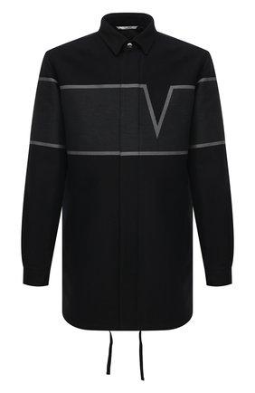 Мужская хлопковая куртка VALENTINO черного цвета, арт. VV3CJF35718 | Фото 1 (Стили: Кэжуэл; Рукава: Длинные; Кросс-КТ: Куртка, Ветровка; Длина (верхняя одежда): До середины бедра; Материал внешний: Хлопок; Материал подклада: Хлопок)