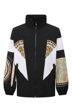 Мужская куртка VERSACE разноцветного цвета, арт. A88541/1F00613 | Фото 1 (Кросс-КТ: Куртка, Ветровка; Рукава: Длинные; Стили: Гранж; Материал подклада: Синтетический материал; Материал внешний: Синтетический материал; Длина (верхняя одежда): До середины бедра)