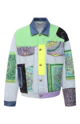 Мужская джинсовая куртка VERSACE разноцветного цвета, арт. A88559/1F00408 | Фото 1