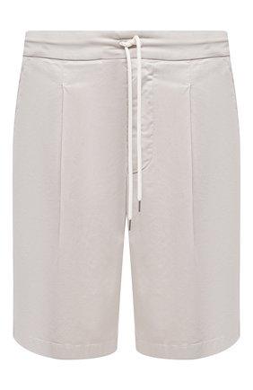 Мужские хлопковые шорты GIORGIO ARMANI светло-бежевого цвета, арт. 0SGPB00E/T02EY   Фото 1