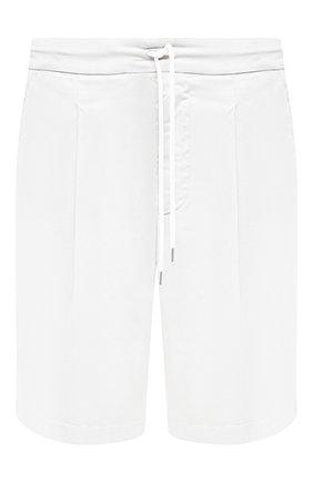 Мужские хлопковые шорты GIORGIO ARMANI белого цвета, арт. 0SGPB00E/T02EY   Фото 1