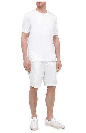 Мужские хлопковые шорты GIORGIO ARMANI белого цвета, арт. 0SGPB00E/T02EY   Фото 2