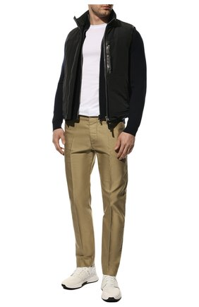 Мужские комбинированные кроссовки TOM FORD белого цвета, арт. J1100T-T0F001 | Фото 2 (Стили: Спорт; Материал внешний: Текстиль; Материал внутренний: Текстиль, Натуральная кожа; Подошва: Массивная)