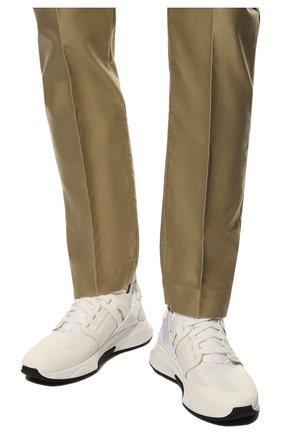 Мужские комбинированные кроссовки TOM FORD белого цвета, арт. J1100T-T0F001 | Фото 3