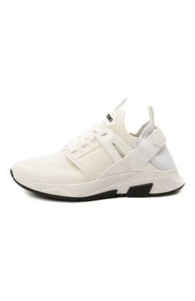 Мужские комбинированные кроссовки TOM FORD белого цвета, арт. J1100T-T0F001 | Фото 4