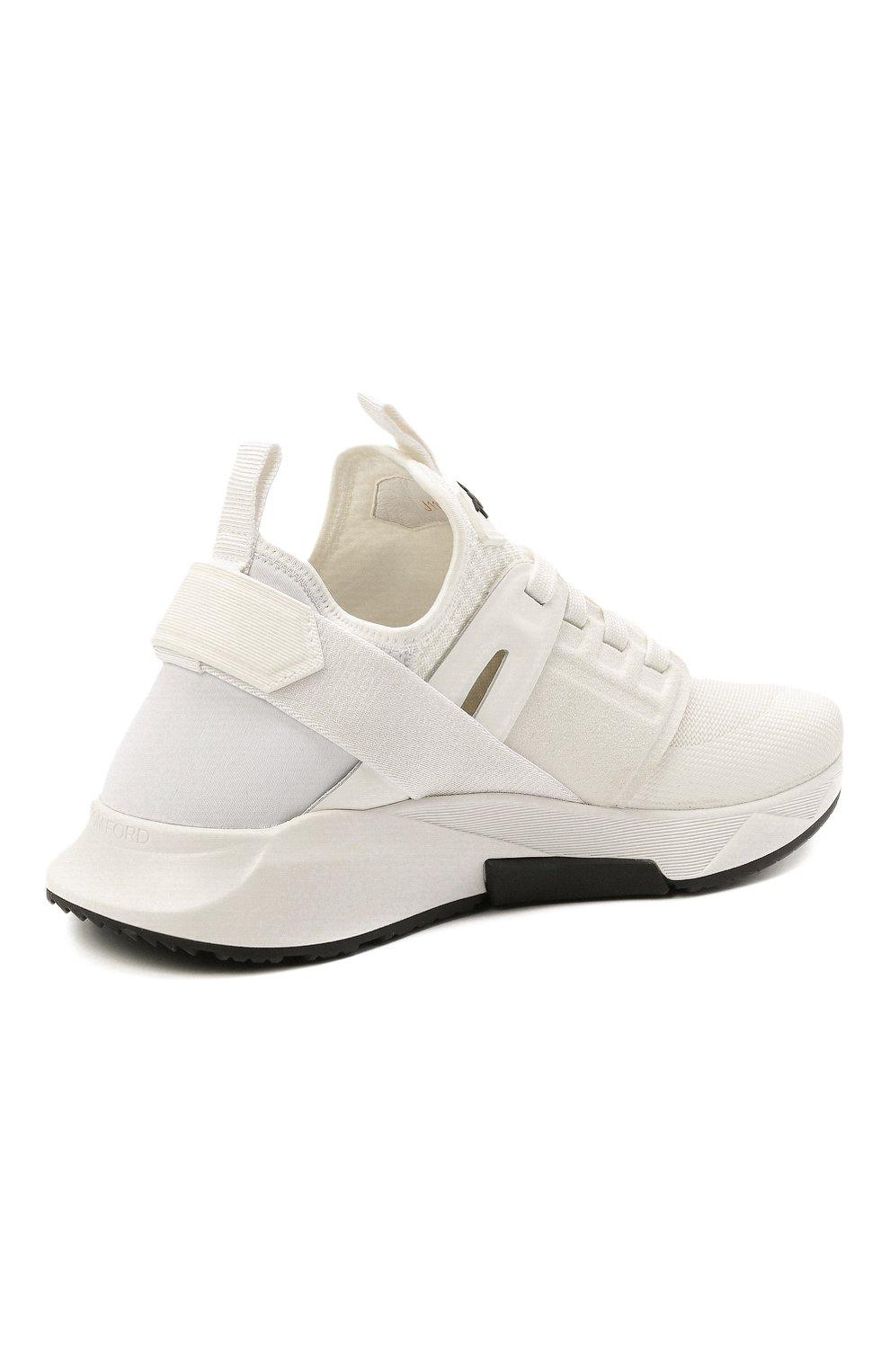 Мужские комбинированные кроссовки TOM FORD белого цвета, арт. J1100T-T0F001 | Фото 5