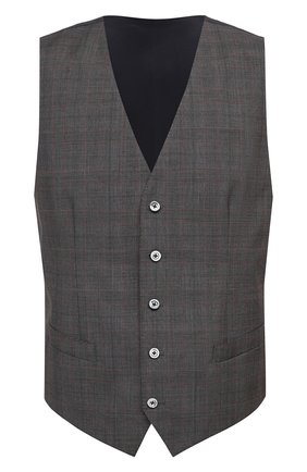Мужской шерстяной жилет DOLCE & GABBANA коричневого цвета, арт. G702UT/FQ2LQ | Фото 1